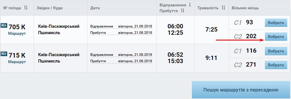 Фото 3. Инструкция покупки билета Киев - Пшемысль онлайн