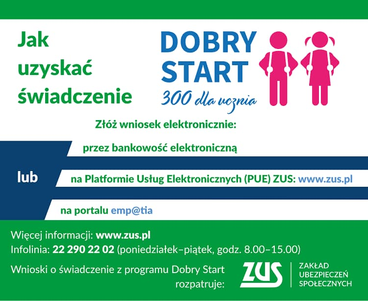 Как получить 300 zl по программе Dobry Start в Польше? 1