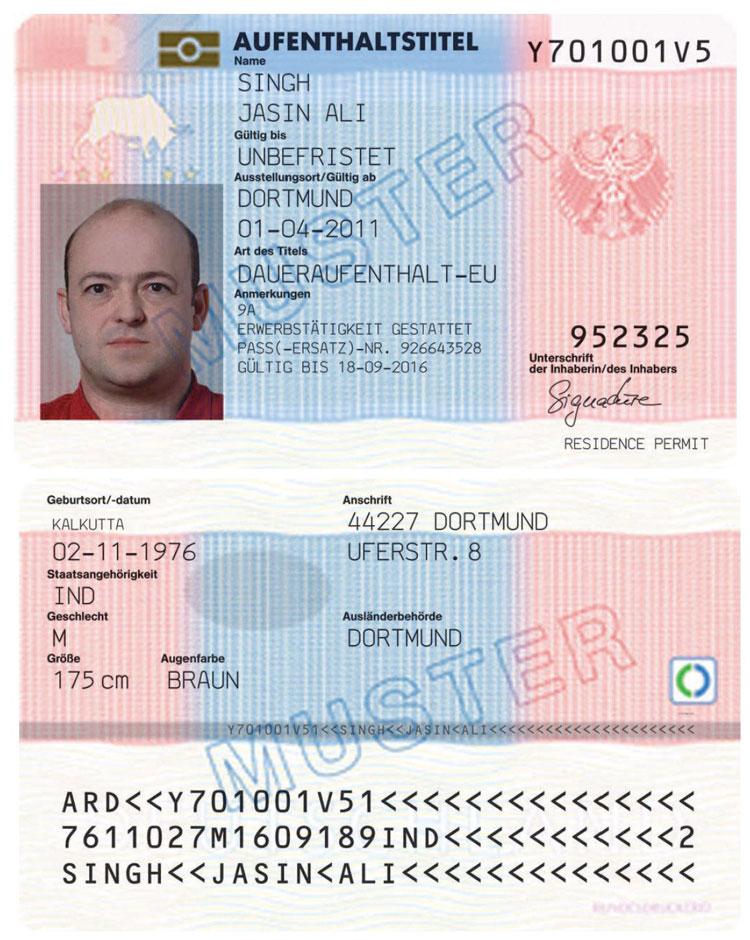 Erlaubnis zum Daueraufenthalt-EU