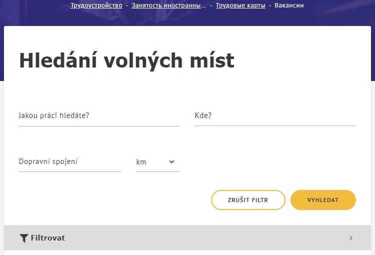 Поиск вакансий для трудовой карты в Чехии: шаг 1