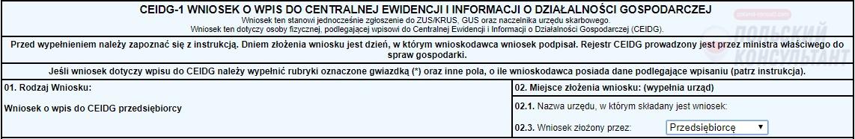 Онлайн регистрация ИП в Польше. Шаг 1