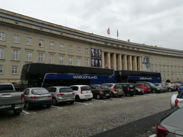 автобус заблокировали уженд Вроцлава