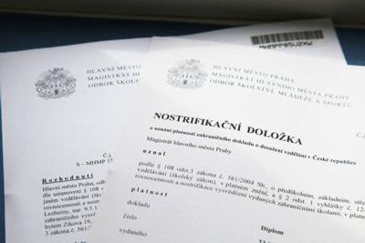 Как проходит нострификация аттестата в Чехии и сколько стоит подтверждение? 1