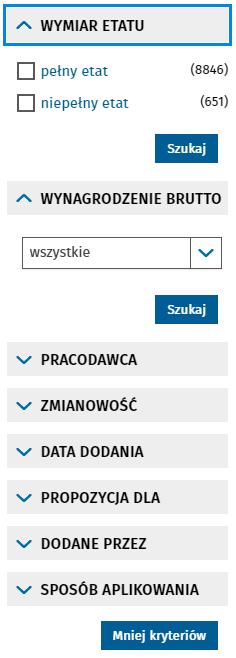 Поиск вакансий в Польше через Centralna Baza Ofert Pracy 8