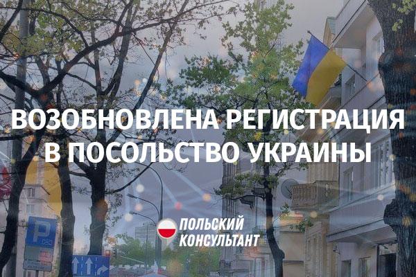 Консульский отдел в Варшаве восстановил регистрацию по электронной очереди