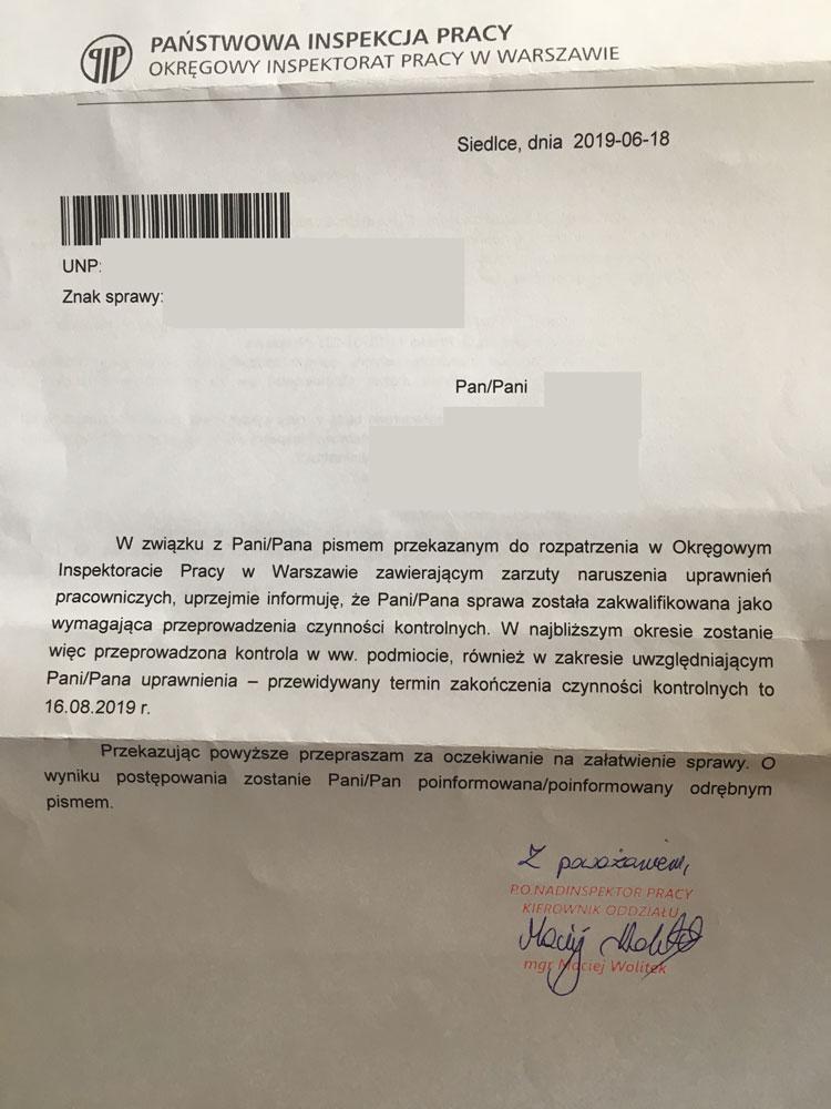 Что такое PIP в Польше и как написать жалобу в инспекцию праци? 2
