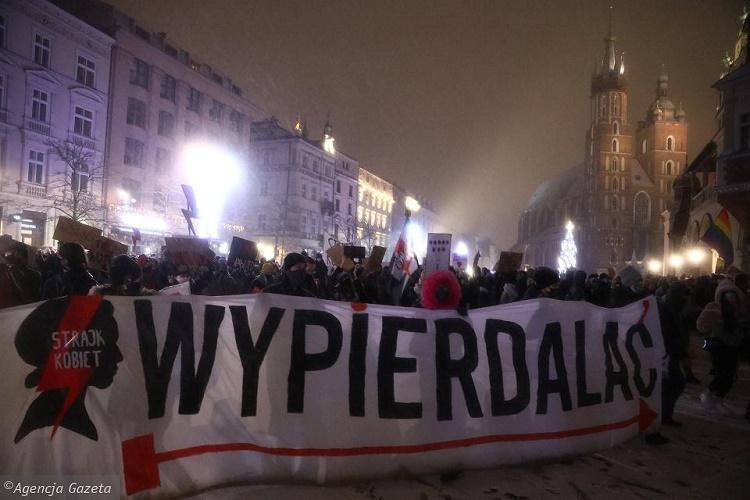 Strajk Kobiet от 29 января: петарды против полиции, газ против демонстрантов 1
