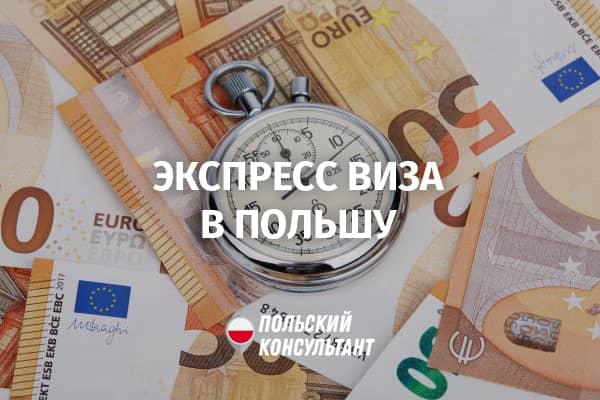 Экспресс-виза в Польшу