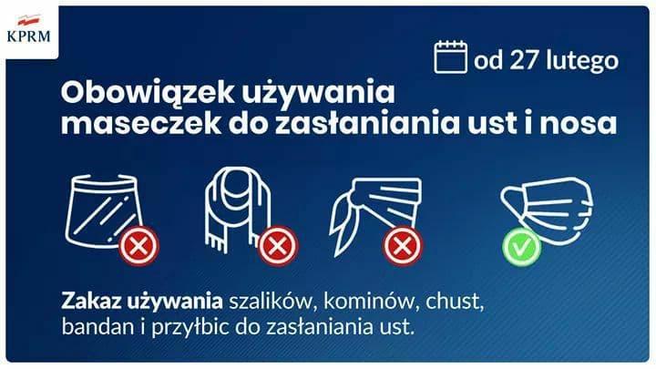 В Польше новые ограничения с 27 февраля 2
