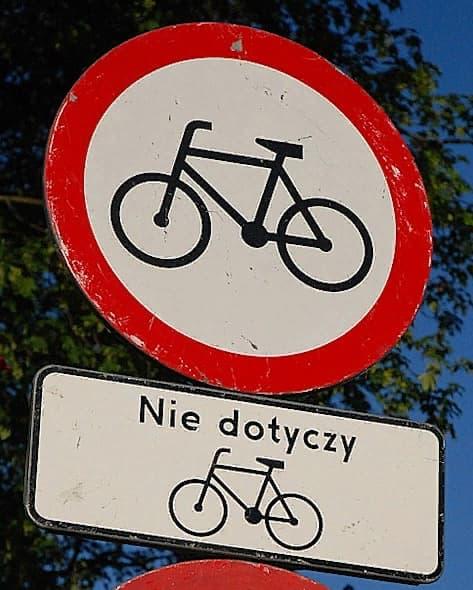 Правила езды для велосипедистов в Польше и штрафы за нарушение ПДД 23