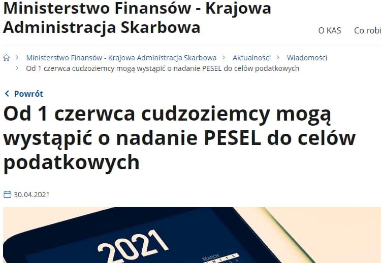 Упрощение получения PESEL иностранцами в Польше 3