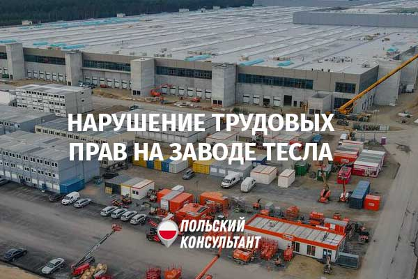 На заводе Тесла в Германии грубо нарушаются трудовые права польских рабочих