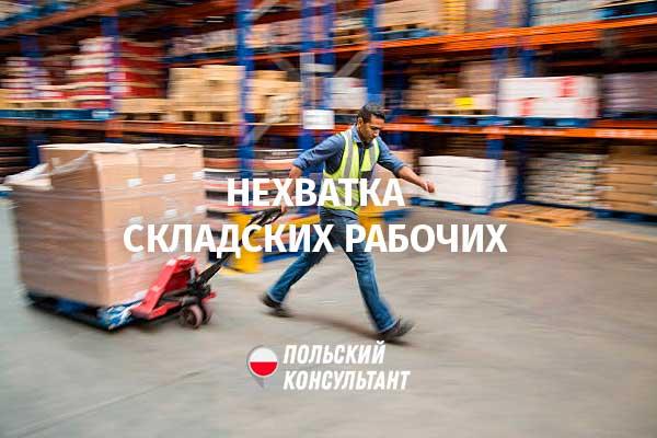 В Польше на складах не хватает грузчиков и водителей погрузчиков 42