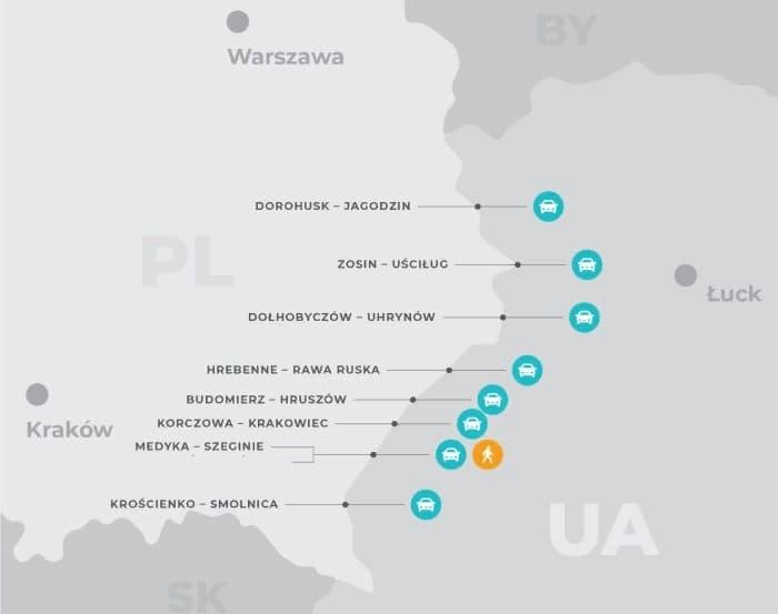 С 23 июня возобновляют работу все пункты пропуска на польско-украинской границе 1