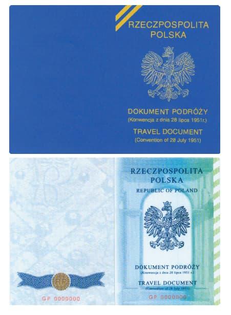 На фото Женевский паспорт беженца