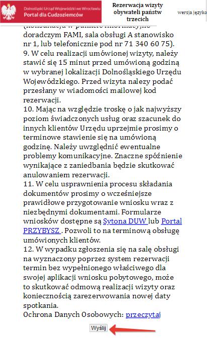Онлайн-регистрация на карты побыту в Нижнесилезском воеводстве 11